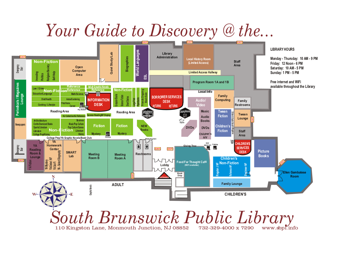 South Brunswick Public Library  Map