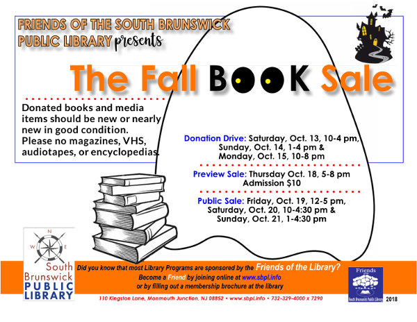 SBPL Fall Book Sale for 2018