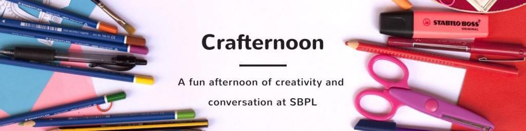 Swing by SBPL for a fun time at Crafternoon