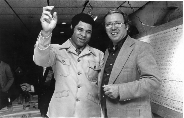 Mayor Ted Cherry and Paul Murray 1977